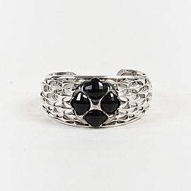Tacori 925 Sterling Silver with 18K Gold and Black Onyx Cuff Bracelet