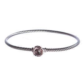 David Yurman Chatelaine Sterling Silver Morganite Bracelet