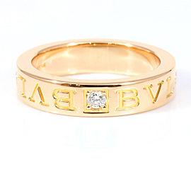 Bulgari 18K Rose Gold Diamond Ring Size 4