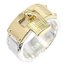 Hermès 18K Yellow Gold, Sterling Silver Ring Size 5.25