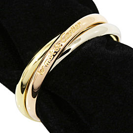 Cartier Trinity 18K Tri-Color Gold Ring Size 4.25
