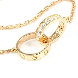 Cartier 18K Rose Gold Diamond Baby Love Pendant
