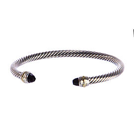 David Yurman Cable Classics14K Yellow Gold, Sterling Silver Onyx Bracelet