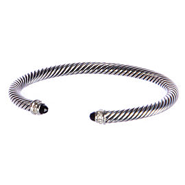 David Yurman Cable Classic Sterling Silver Onyx Bracelet
