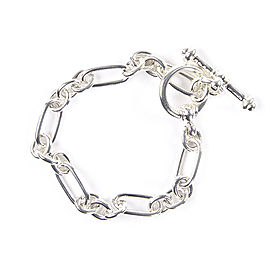 Tiffany & Co. Paloma Picasso Groove Link Toggle Bracelet Sterling Silver