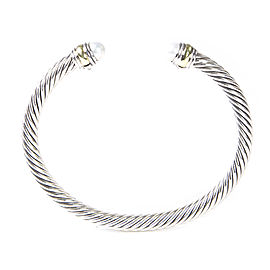 David Yurman Cable Classics Sterling Silver 14K Yellow Gold Cultured Freshwater Pearl Bracelet