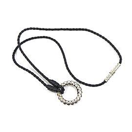 Bottega Veneta Silver 925 Intrecciato Necklace