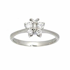 Diamond 18k white gold Butterfly Motif Ring