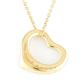 TIFFANY&Co. 18K yellow Gold heart Open heart Necklace