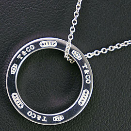 TIFFANY & Co Silver925 1837 Circle Necklace NST-8