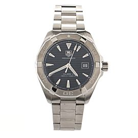 Tag Heuer Aquaracer 300M Calibre 5 Automatic Watch Stainless Steel with White Gold Brushed Case 41