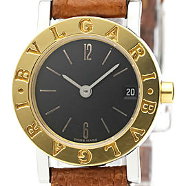 Polished BVLGARI BVLGARI-BVLGARI 18K Gold Steel Quartz Ladies Watch