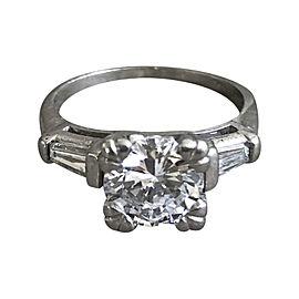 Platinum with 1.76ct. Diamond Engagement Ring Size 6