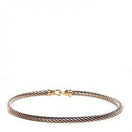 David Yurman Sterling Silver and 18K Yellow Gold Bracelet