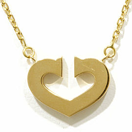 CARTIER 18K Gold C heart Necklace CHAT-235