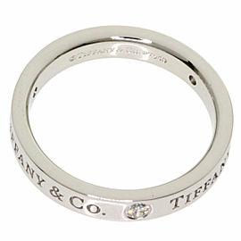 TIFFANY & Co. PT950 Platinum Flat band 3P Diamond Ring