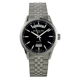 Raymond Weil 2720-ST-20021 Freelancer Day Date Automatic Stainless Steel Watch