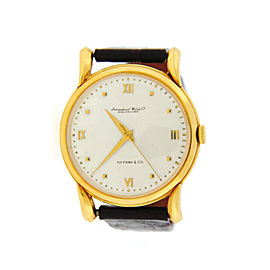 IWC Tiffany & Co. Dial 18K Yellow Gold Watch 36mm Mens Watch