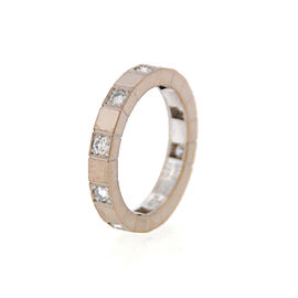 Cartier Lanieres 18K White Gold Diamond Ring Size 5