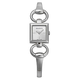 Gucci YA120502 Tornabuoni Silver Dial Stainless Steel Womens Watch