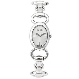 Gucci YA118502 Tornabouni Silver Dial Stainless Steel Womens Watch