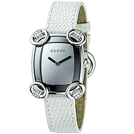 Gucci YA117506 Horsebit Diamond Stainless Steel Womens Watch