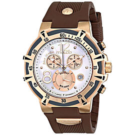 Mulco Bluemarine Gold Tone Brown Chronograph Stainless Steel Watch MW1-29903-031