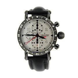 Chronoswiss Timemaster CH-7535-GST GMT Black Stainless Steel Mens Watch