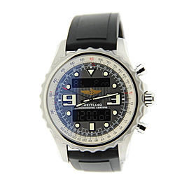 Breitling Chronospace A7836534 Stainless Steel & Rubber Quartz 48mm Mens Watch
