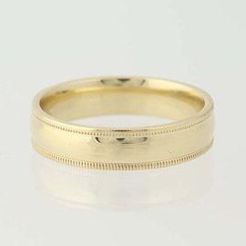 10K Yellow Gold Diamond Wedding Ring Size 10