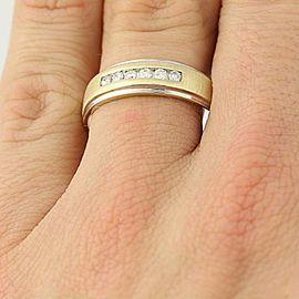 14K White Gold, 14K Yellow Gold Diamond Wedding Ring Size 11
