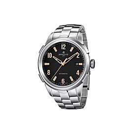 Perrelet Class-T A1068/C Stainless Steel Black Dial Automatic 42mm Mens Watch