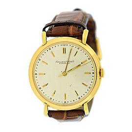 IWC 18K Yellow Gold 37mm Mens Vintage Watch