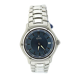 Ebel 1911 9187241 Stainless Steel Blue Dial Quartz 38mm Mens Watch