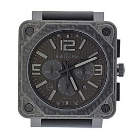 Bell & Ross Aviation Phantom BR0194-CA-FIB Carbon Fiber / Rubber 46mm Mens Watch