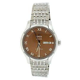 Omega DeVille 433.10.41.22.10.001 Master Hour Vision Stainless Steel Bronze Dial Automatic 41mm Mens Watch