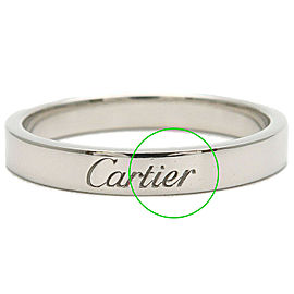 Cartier Platinum Engraved Ring