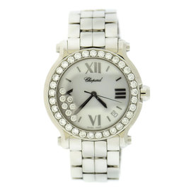 Chopard Happy Sport 278477 Stainless Steel with Diamonds Quartz 36mm Womens Watch
