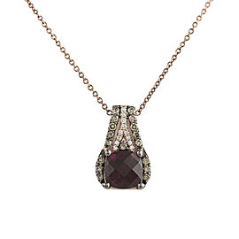 Le Vian 14k Rose Gold Rhodolite 0.24ctw Diamond Garnet Pendant Necklace