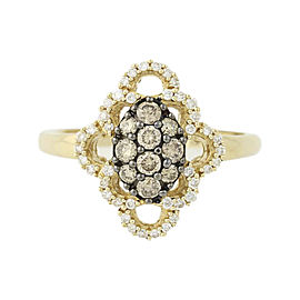 Le Vian 14K Yellow Gold .56ct. Diamond Ring Size 7