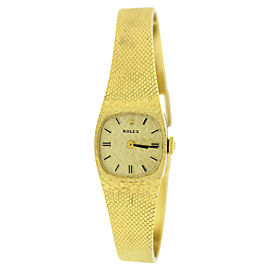 Rolex 8133 14K Yellow Gold Manual Vintage 18mm Womens Watch