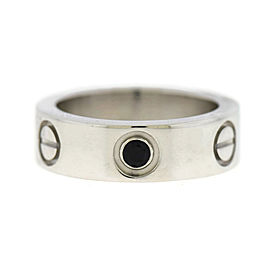Cartier Love 18K White Gold Sapphire Ring Size 4.0