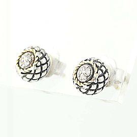 Andrea Candela 18K Yellow Gold, Sterling Silver Diamond Earrings