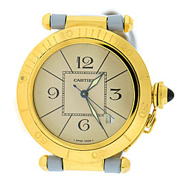 Cartier Pasha 1987 18K Yellow Gold & Leather Automatic 38mm Unisex Watch