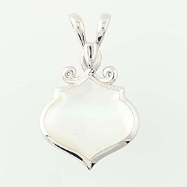 Kabana 14K White Gold Mother Of Pearl, Diamond, Pearl Pendant