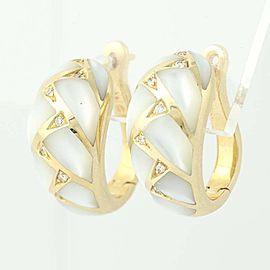Kabana 14K Yellow Gold Mother Of Pearl, Diamond, Pearl Earrings