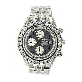 Breitling Chronomat Evolution A13356 Stainless Steel with 20ct. Diamonds Automatic 46mm Mens Watch