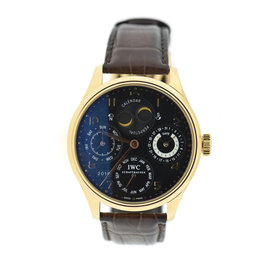 IWC Portuguese Perpetual Calendar 5021-03 18K Rose Gold & Leather Automatic 44mm Mens Watch