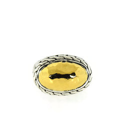 John Hardy 22K Yellow Gold / 925 Sterling Silver Ring Size 6