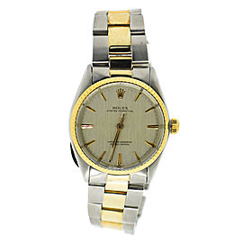 Rolex Oyster Perpetual 1002 Two Tone Stainless Steel/Yellow Gold Automatic 24mm Unisex Watch